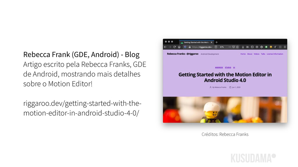 Rebecca Frank (GDE, Android) - Blog Artigo escr...