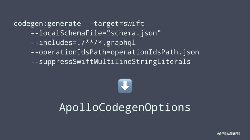 codegen:generate --target=swift --localSchemaFi...