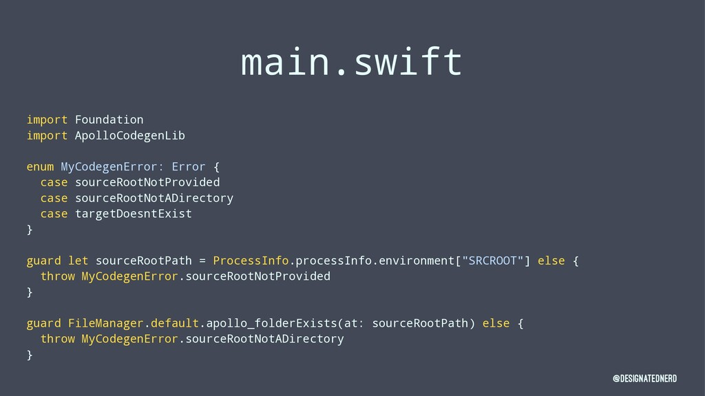 main.swift import Foundation import ApolloCodeg...