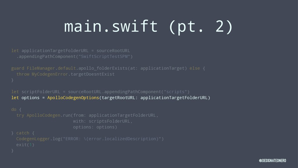 main.swift (pt. 2) let applicationTargetFolderU...