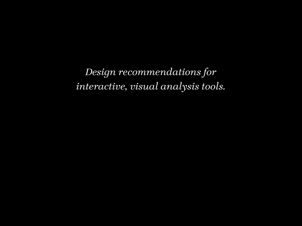 Design recommendations for interactive, visual ...