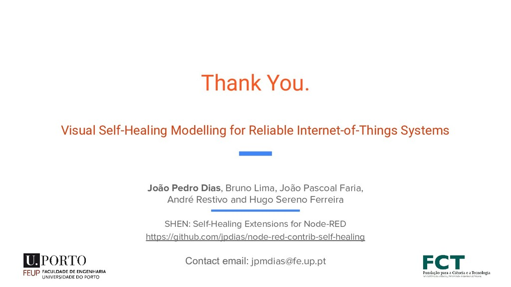 Thank You. Visual Self-Healing Modelling for Re...
