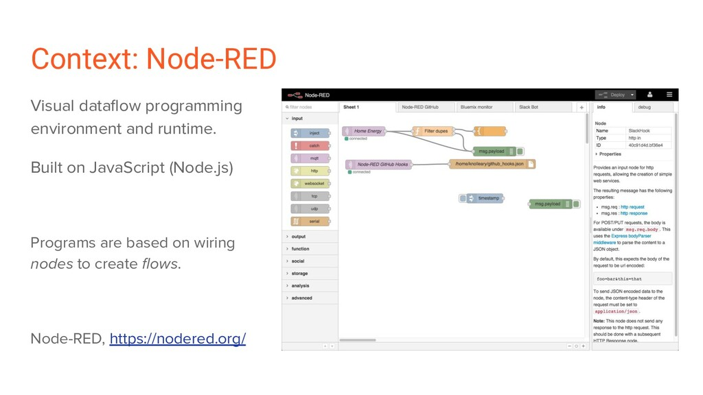 Context: Node-RED Visual dataflow programming en...