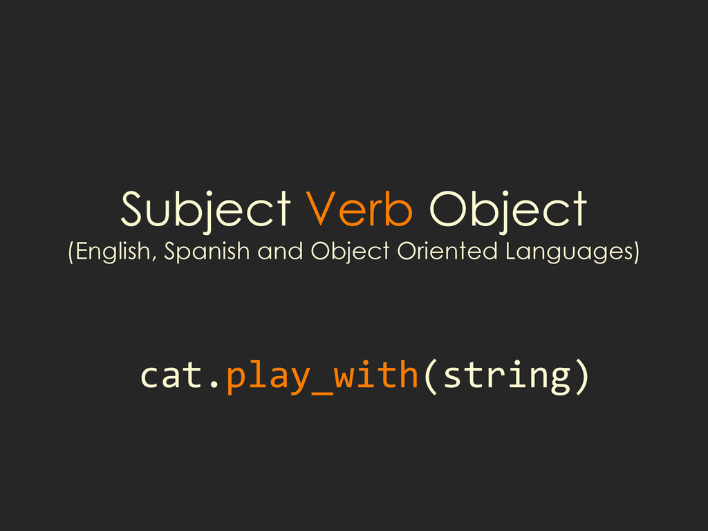 Subject Verb Object (English, Spanish and Objec...