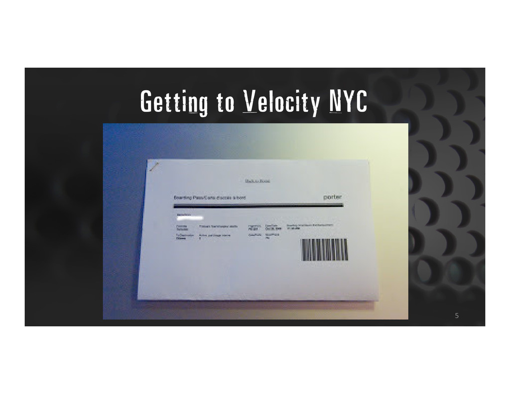 Getting to Velocity NYC 5
