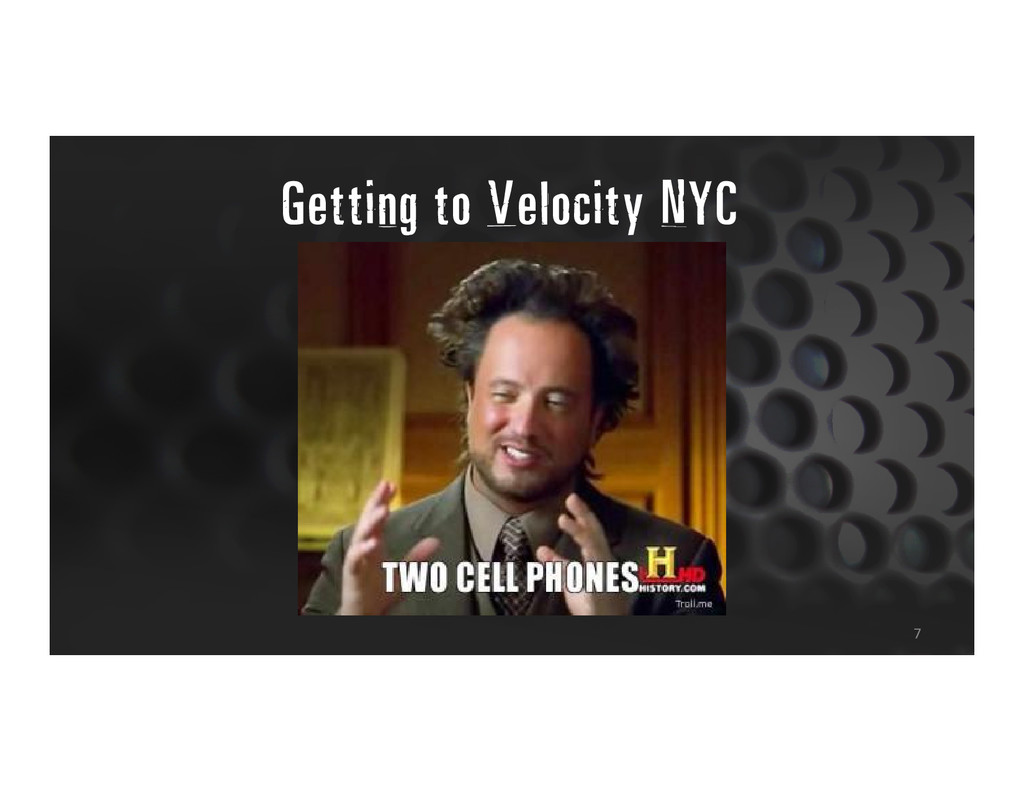 Getting to Velocity NYC 7