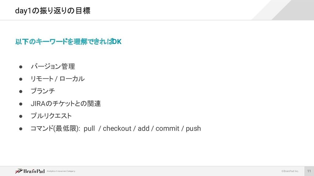 ©BrainPad Inc. 以下のキーワードを理解できれば OK ● バージョン管理 ● リ...