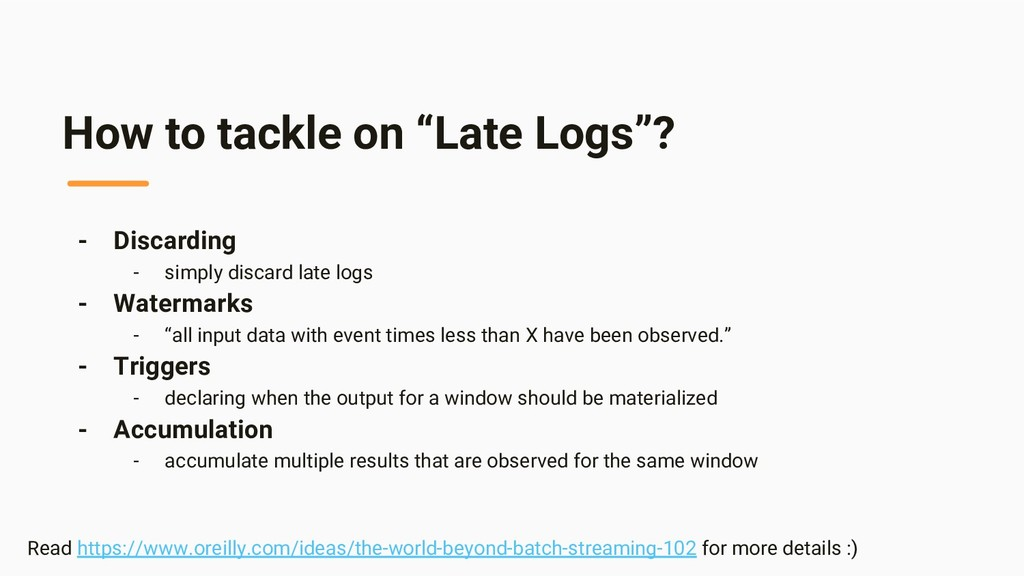 "How to tackle on ""Late Logs""? - Discarding - si..."