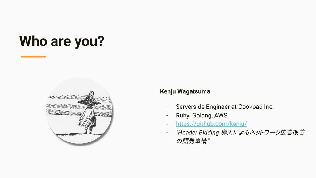 Who are you? Kenju Wagatsuma - Serverside Engin...