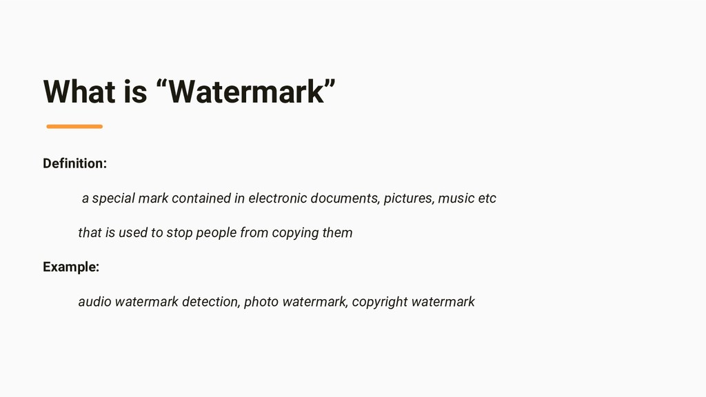 "What is ""Watermark"" Definition: a special mark ..."