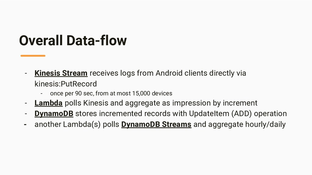 Overall Data-flow - Kinesis Stream receives log...