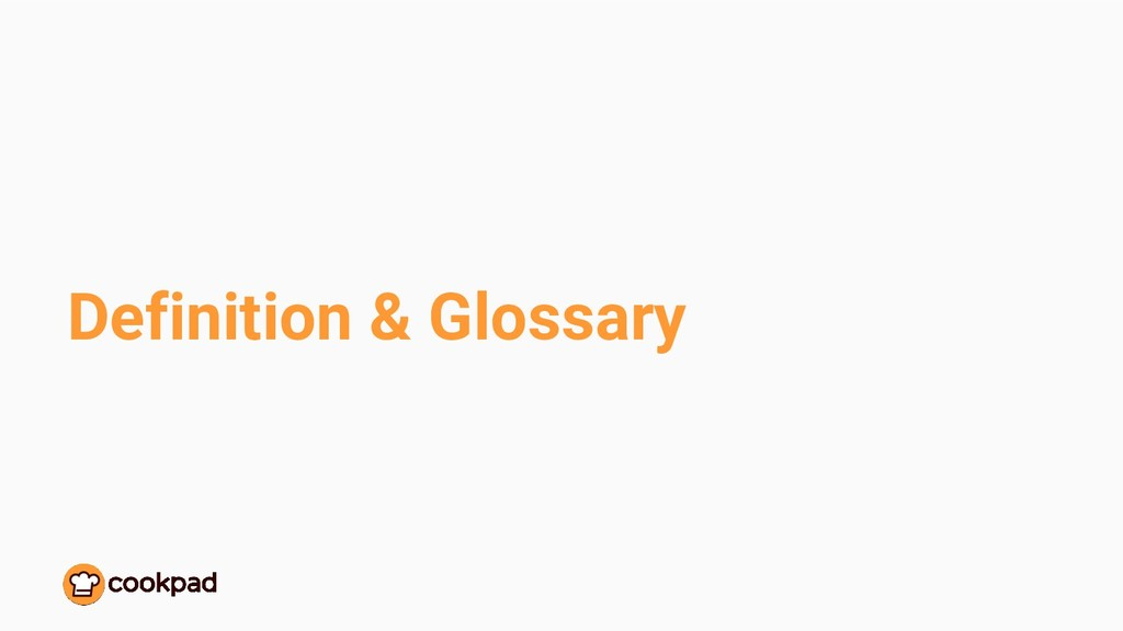 Definition & Glossary