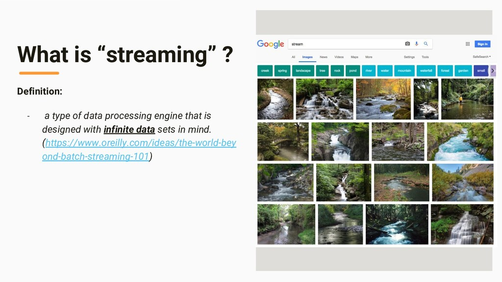 "Image Area What is ""streaming"" ? Definition: - ..."