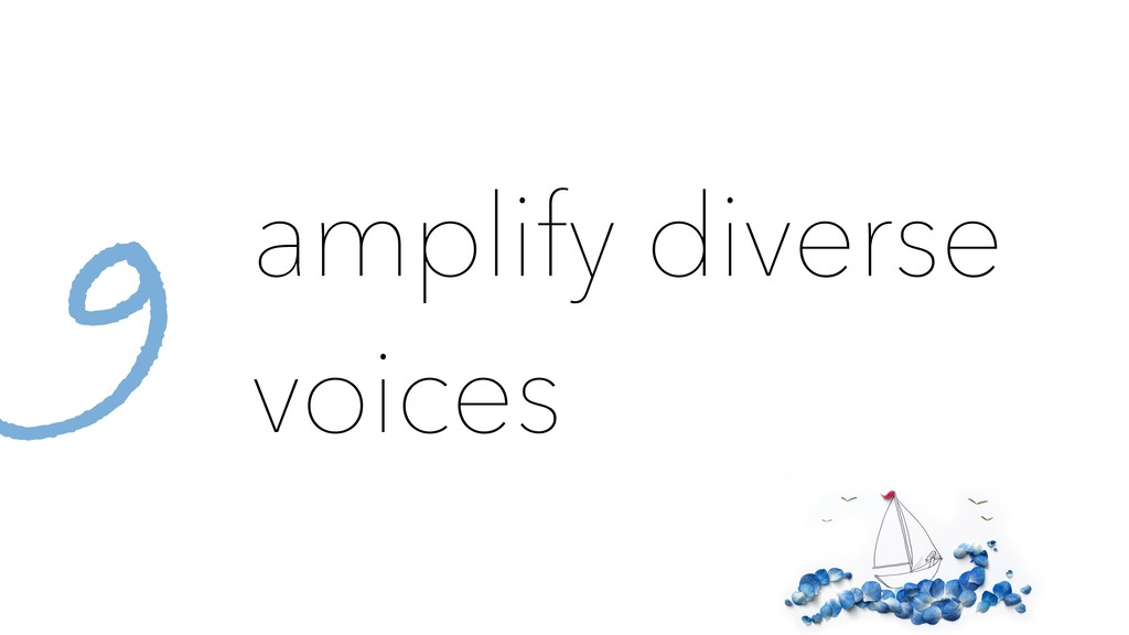 amplify diverse voices 9