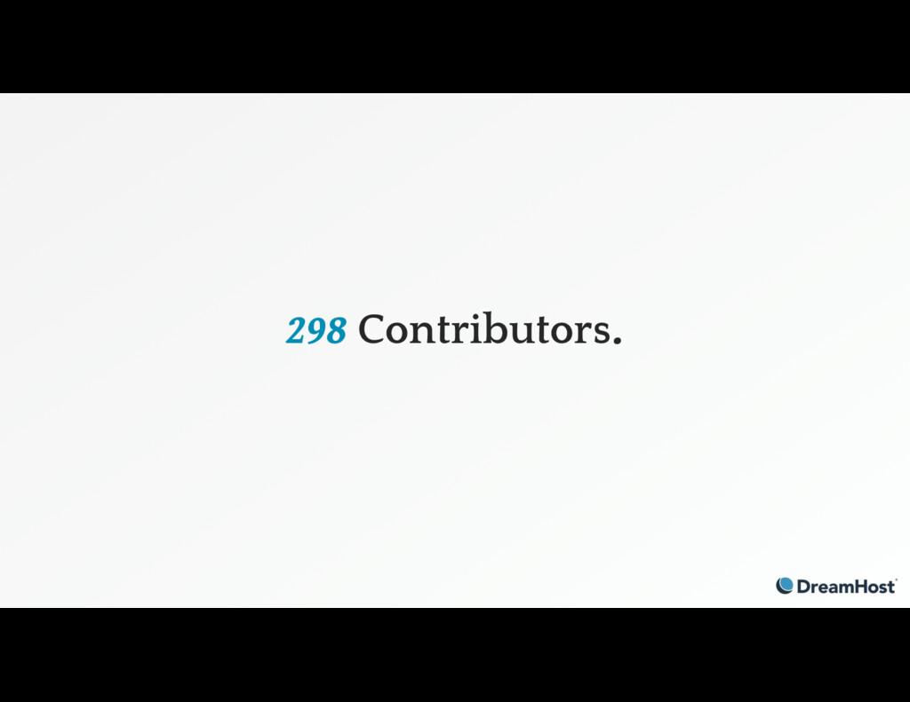 298 Contributors.
