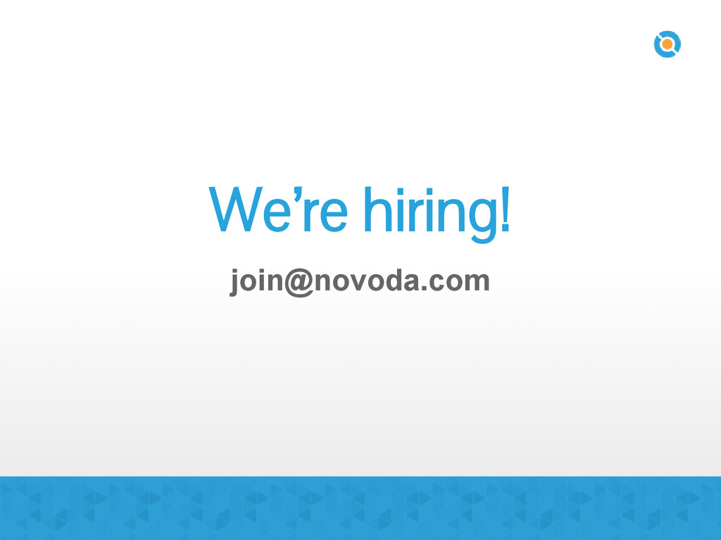 We're hiring! join@novoda.com