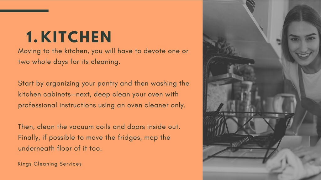 KITCHEN 1. Moving to the kitchen, you will have...