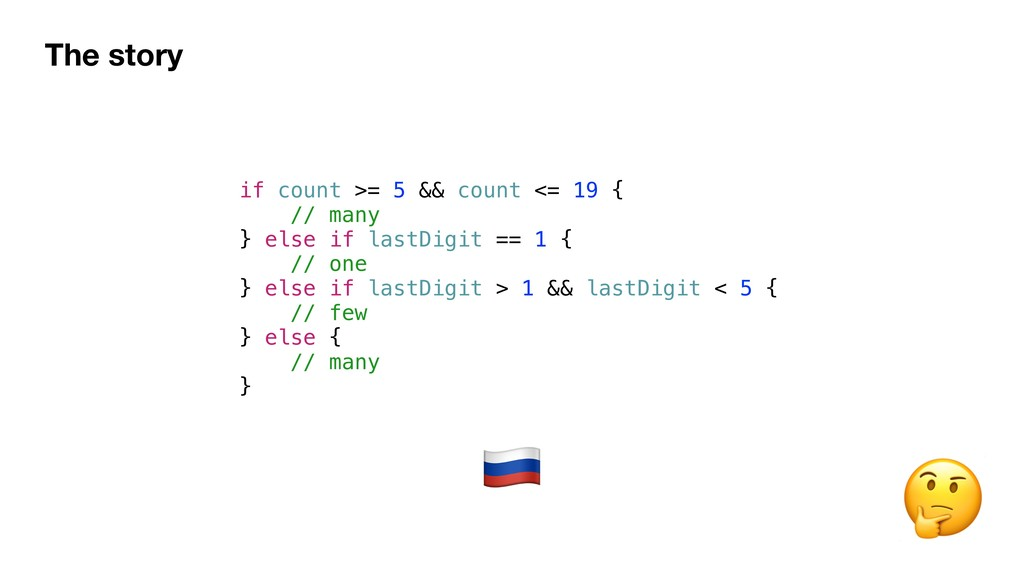 The story if count >= 5 && count <= 19 { // man...