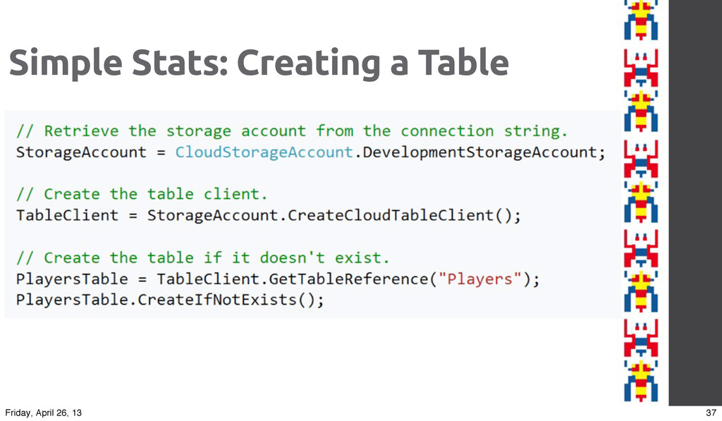 Simple Stats: Creating a Table 37 Friday, April...