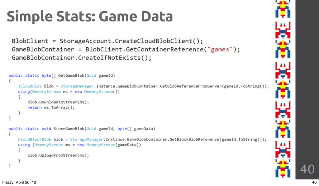 40 Simple Stats: Game Data 40 Friday, April 26,...
