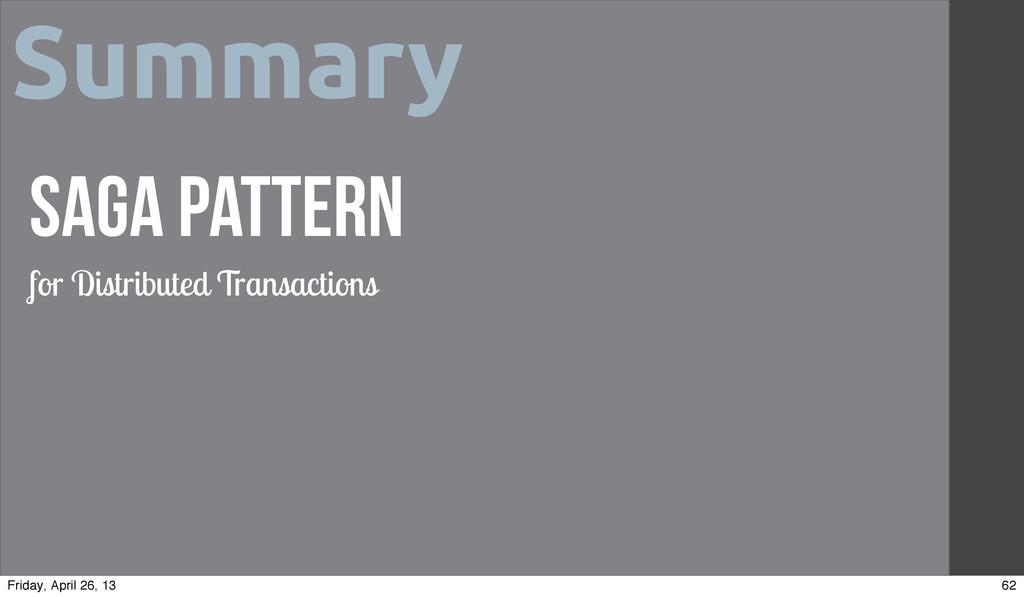 Summary Saga Pattern for Distributed Transactio...