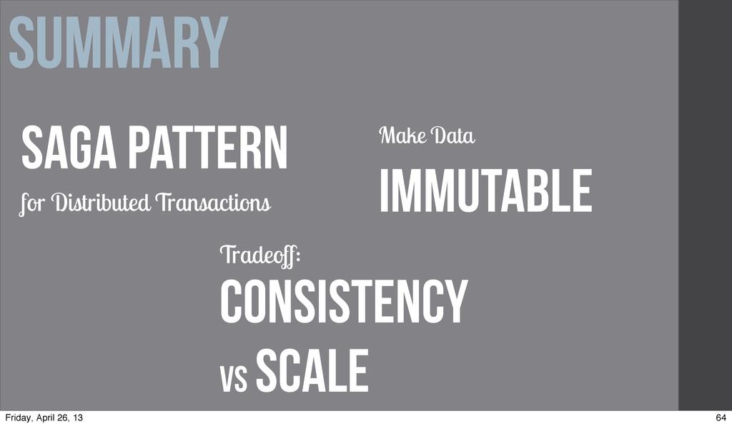 Summary Make Data Immutable Saga Pattern for Di...