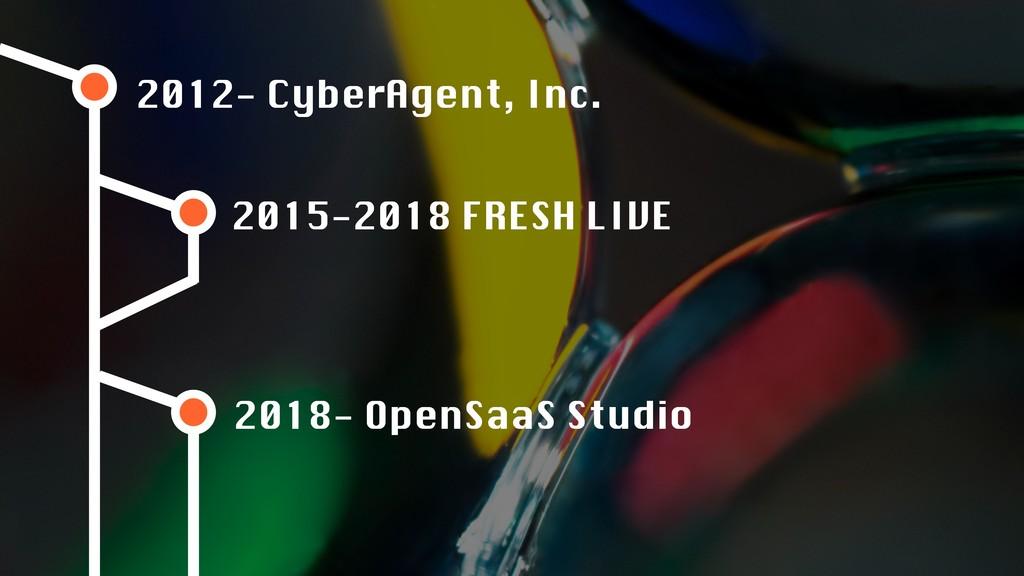 2012- CyberAgent, Inc. 2015-2018 FRESH LIVE 201...