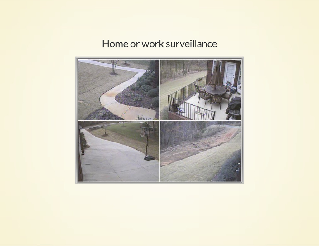 Home or work surveillance