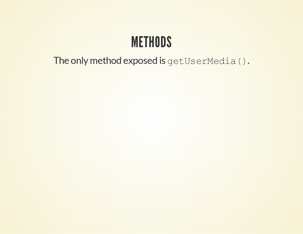 METHODS The only method exposed is g e t U s e ...