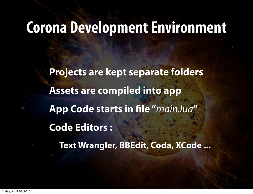 Projects are kept separate folders Assets are c...