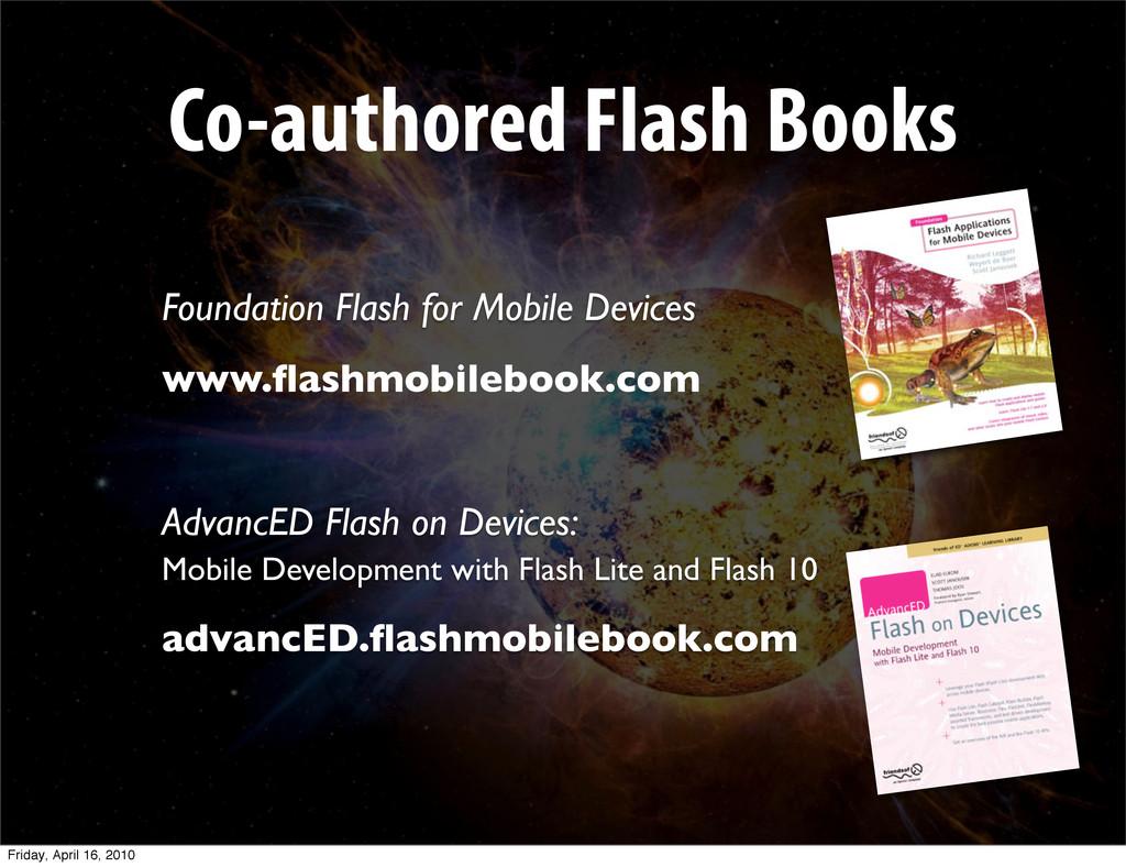 Co-authored Flash Books Foundation Flash for Mo...