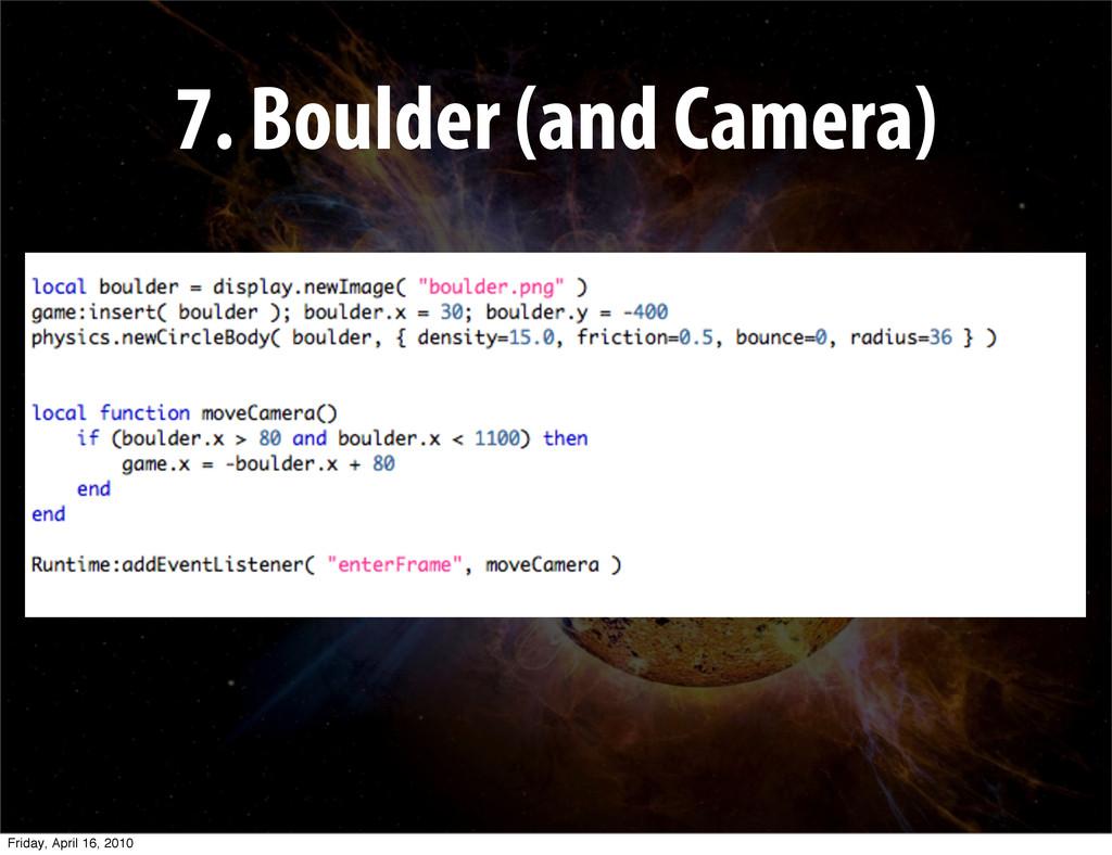 7. Boulder (and Camera) Friday, April 16, 2010