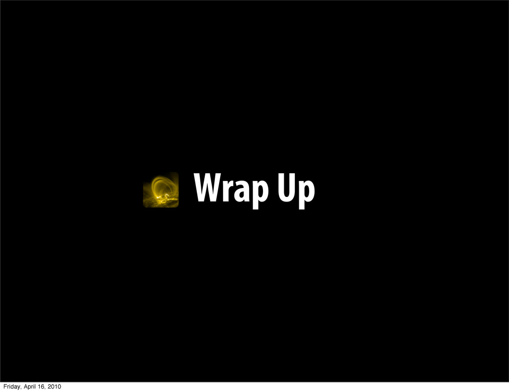 Wrap Up Friday, April 16, 2010