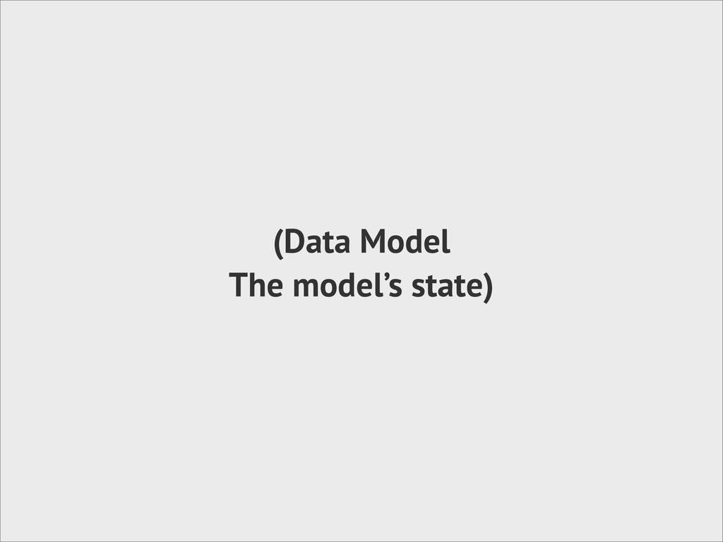 (Data Model The model's state)