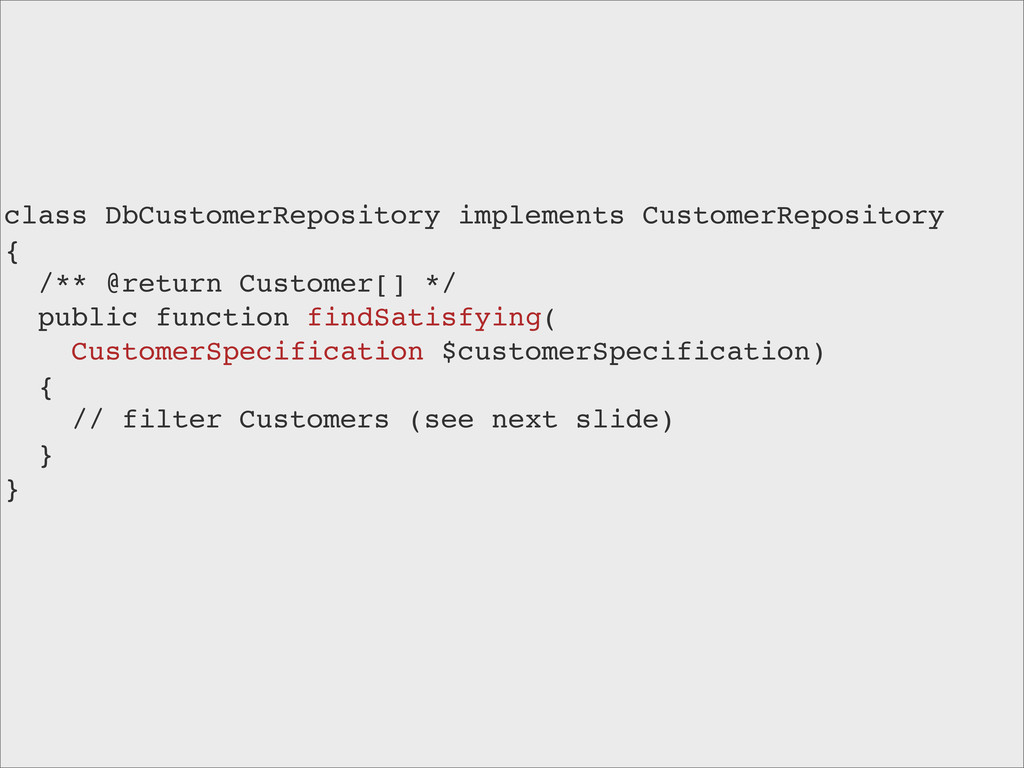 class DbCustomerRepository implements CustomerR...