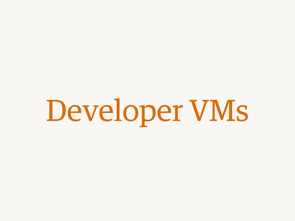 Developer VMs