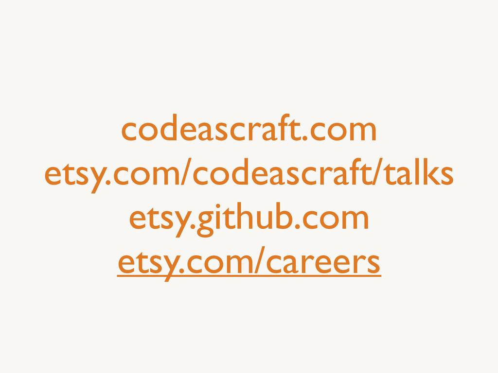 codeascraft.com  etsy.com/codeascraft/talks ...