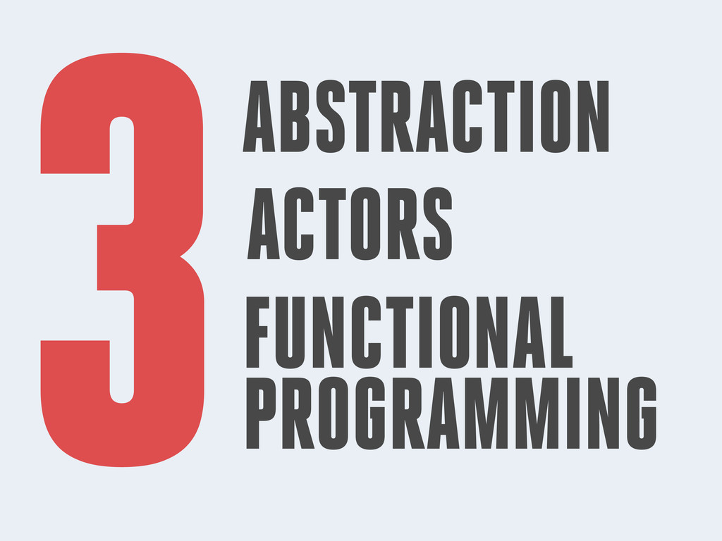 3ABSTRACTION ACTORS FUNCTIONAL PROGRAMMING