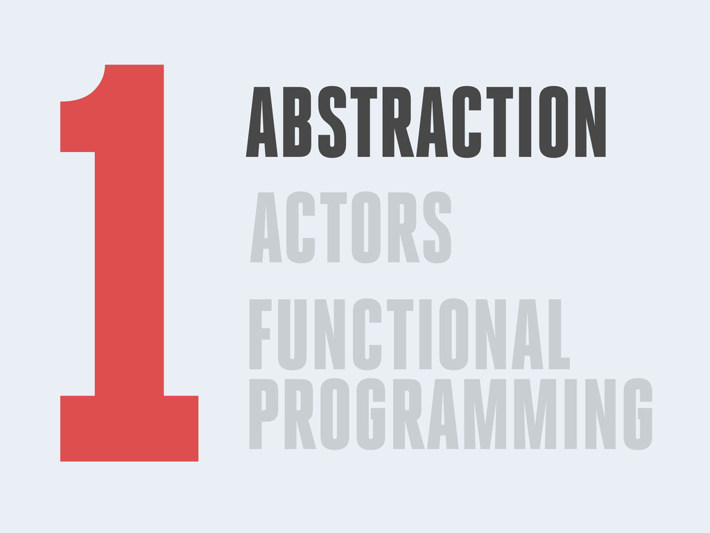 ACTORS FUNCTIONAL PROGRAMMING 1ABSTRACTION