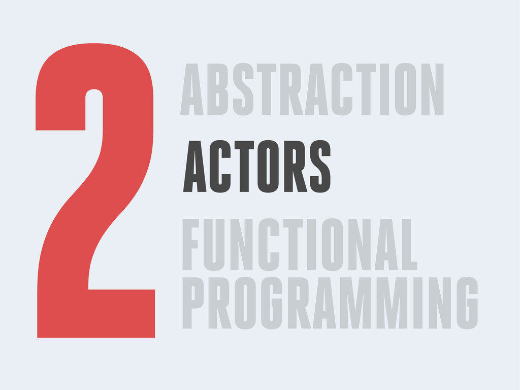 ABSTRACTION ACTORS FUNCTIONAL PROGRAMMING 2