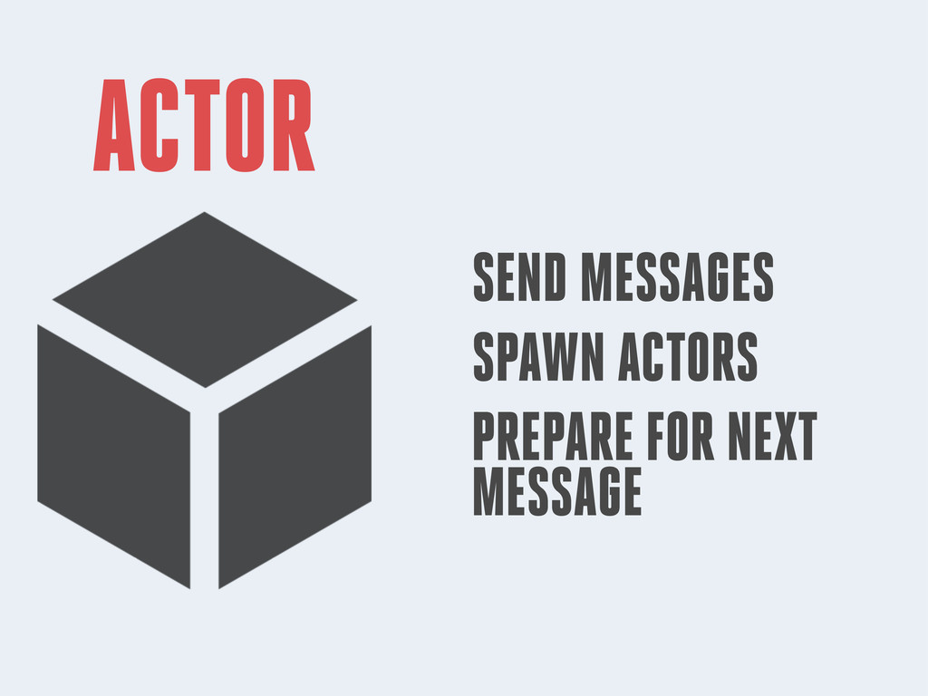 ACTOR SEND MESSAGES SPAWN ACTORS PREPARE FOR NE...