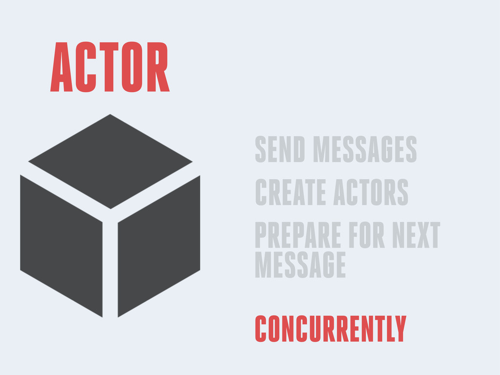 ACTOR SEND MESSAGES CREATE ACTORS PREPARE FOR N...