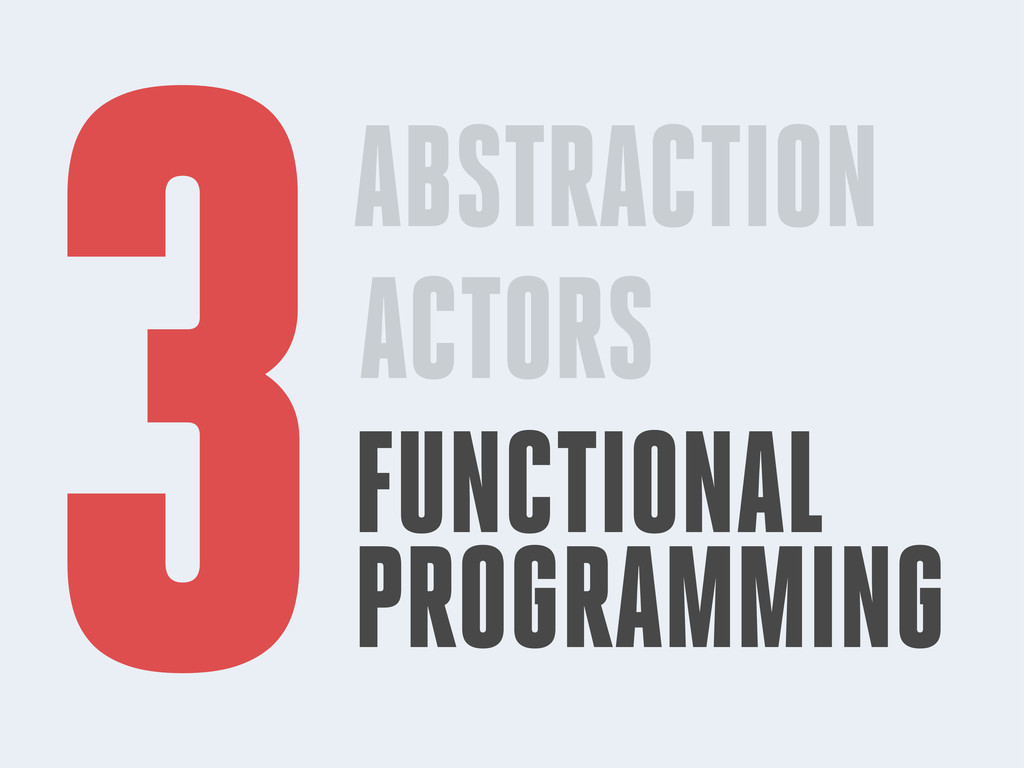 ABSTRACTION ACTORS FUNCTIONAL PROGRAMMING 3