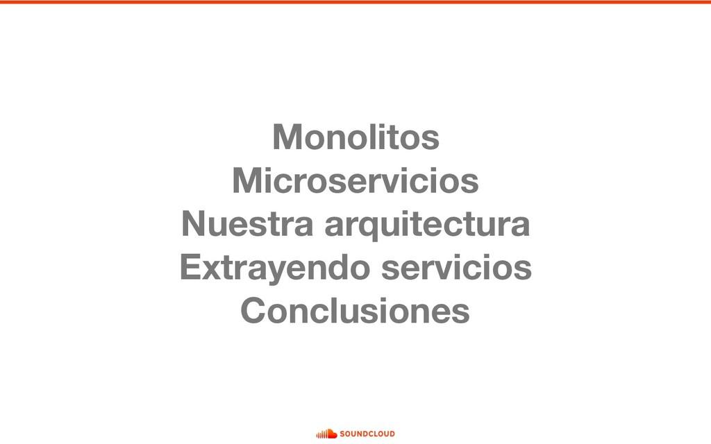 Monolitos Microservicios Nuestra arquitectura E...
