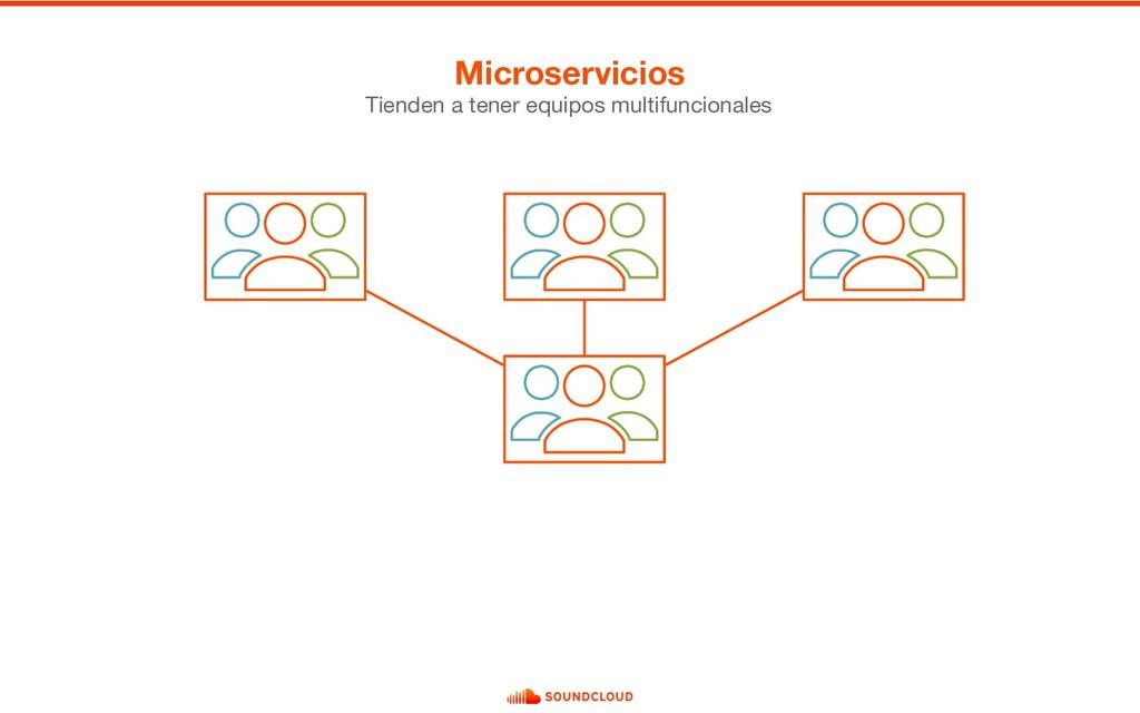 Microservicios Tienden a tener equipos multifun...