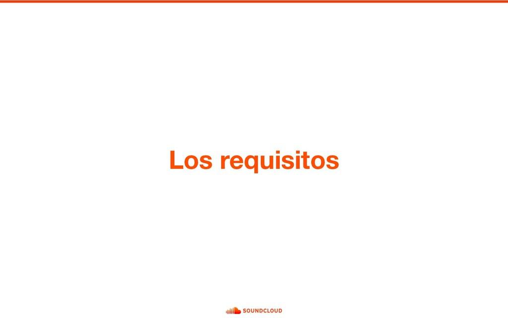 Los requisitos