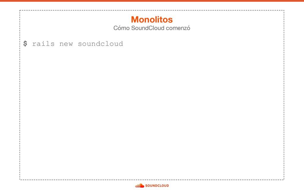 $ rails new soundcloud Cómo SoundCloud comenzó ...