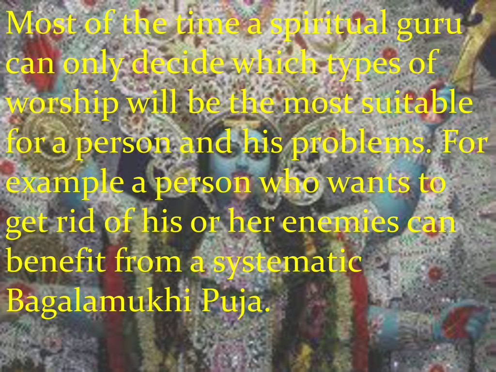 Most of the time a spiritual guru can only deci...