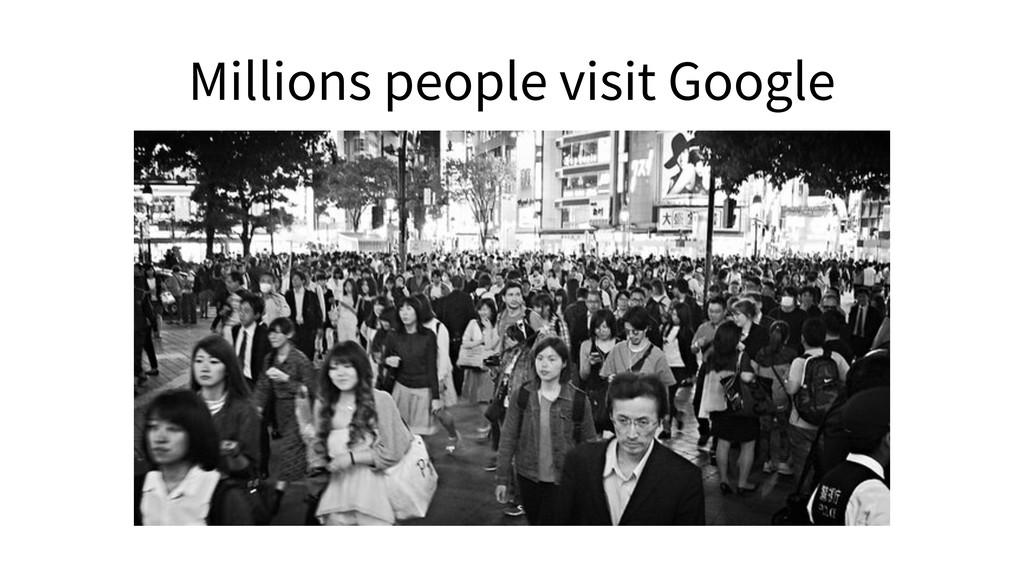 Millions people visit Google
