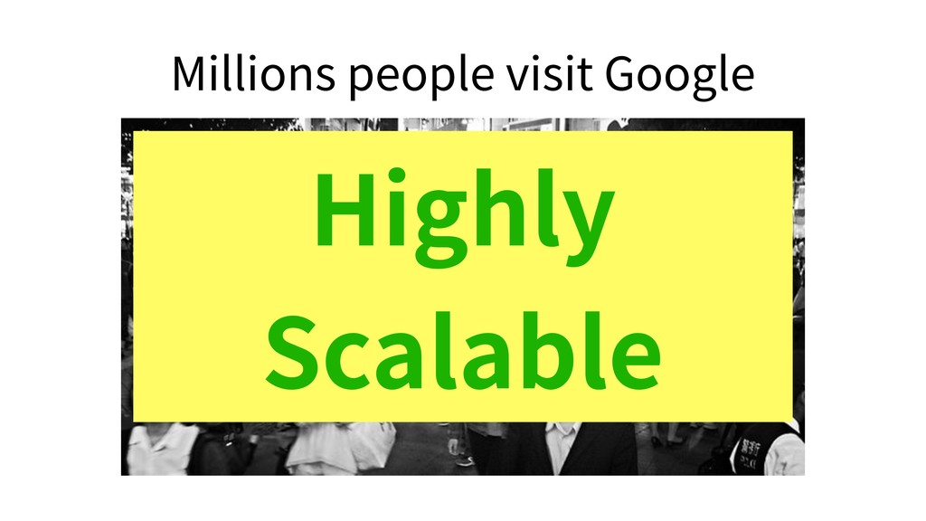 Millions people visit Google Highly Scalable